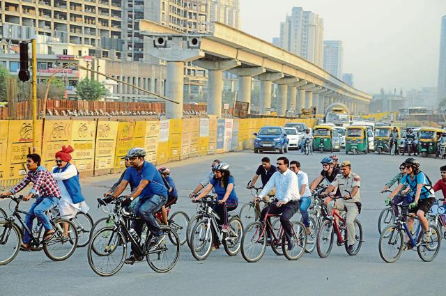 The Gurgaon police plan to focus more on the Cyber City stretch this car-free day.