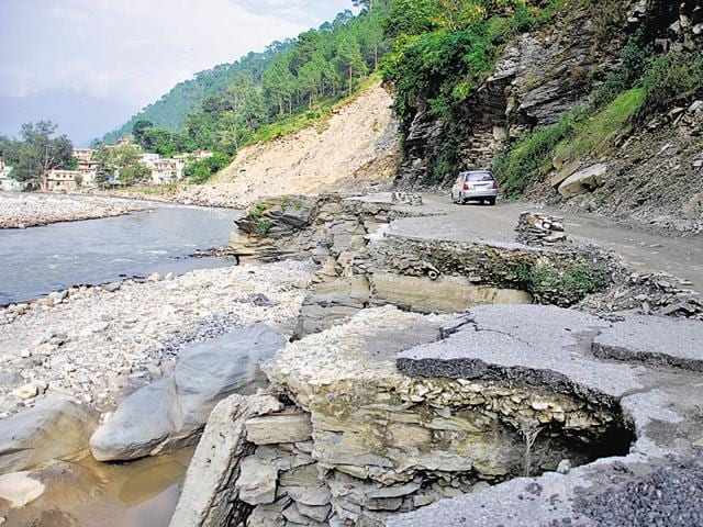 Pilgrim routes in Uttarakhand which were damaged during the 2013 floods.