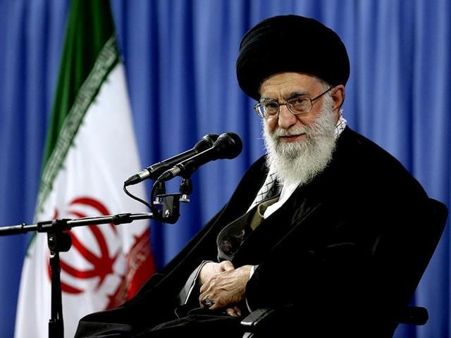 A file photo of Iranian supreme leader Ayatollah Ali Khamenei. Iran's supreme leader publically endorses the nuclear deal his country struck with the United States, despite 'weaknesses.'