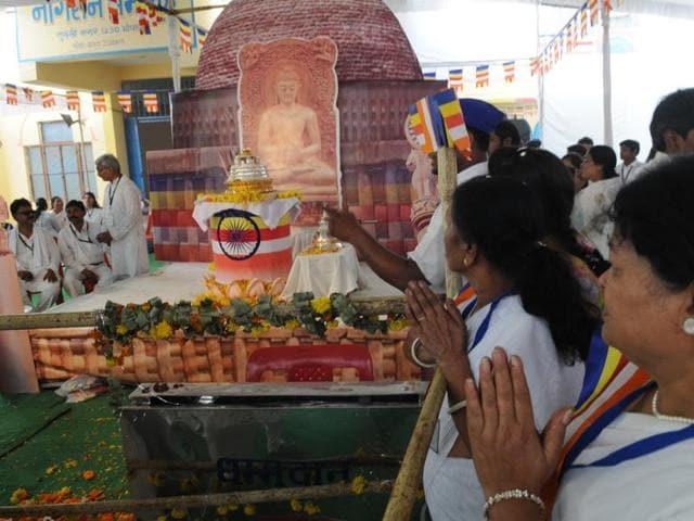 Buddha relics in Bhopal,Vishwa Bouddha Sangh,Buddhist Society of India