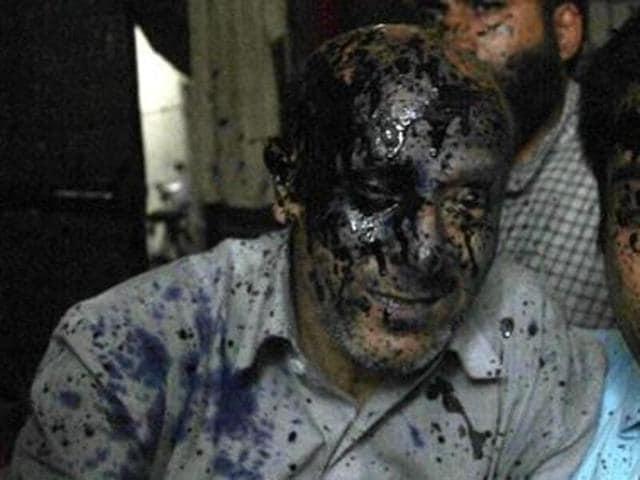 MLA Sheikh Abdul Rashid,Ink,smeared