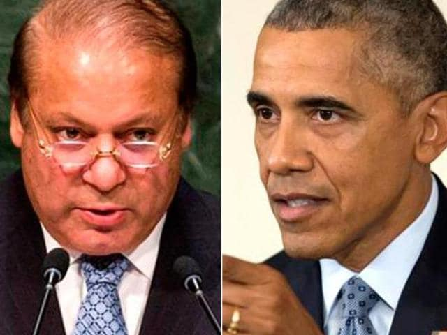 Combo picture of Pakistan PM Nawaz Sharif and US President Barack Obama. The two are slated to meet on  October 22, 2015, at White House.