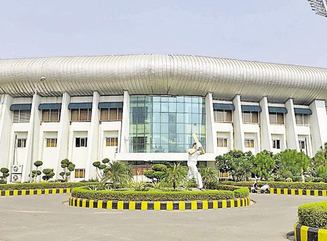 The stadium is spread over an area of 39 acres and is located next to Jaypee Resort. The ground is already hosting local cricket matches.