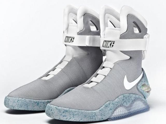 The Michael J. Fox Foundation tweeted a photo of the 53-year-old actor wearing the iconic Nike Mag sneakers from his Back to the Future films, which have become cult favourites.