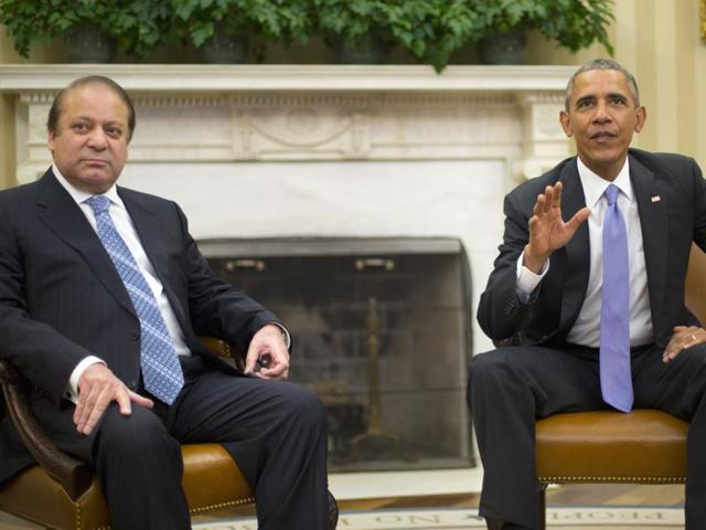 President Barack Obama meets with Pakistan Prime Minister Nawaz Sharif in the Oval Office of the White House, in Washington.