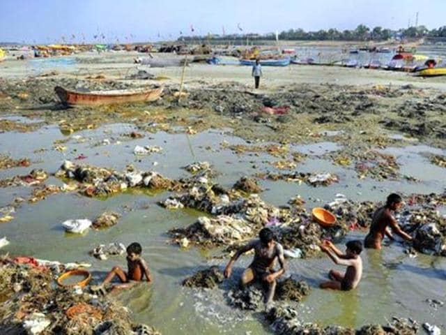 A recent parliamentary committee report said in all Rs 2.2 lakh crore had been spent over 32 years on Ganga cleaning drive, and the Modi-led government expects its fresh clean-up drive to cost Rs 80,000 crore.(AFP photo)