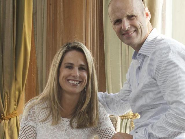Gary Kirsten and his wife Deborah, at Colaba