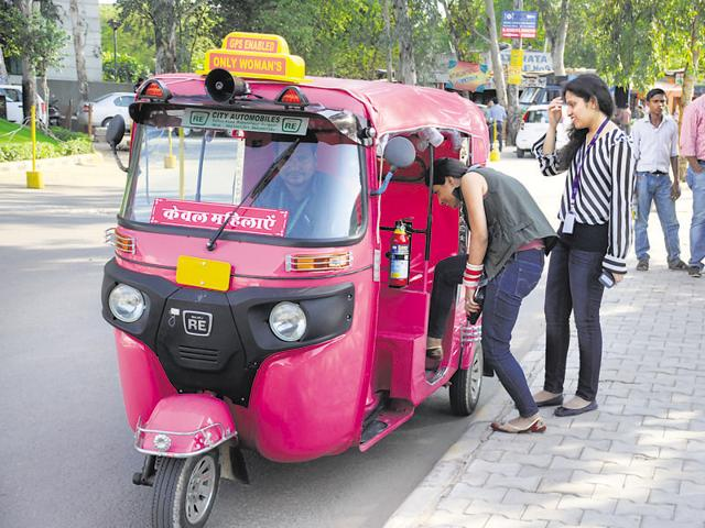 The pink auto scheme, which was launched in Gurgaon, provides a safer mode of transportation for women.