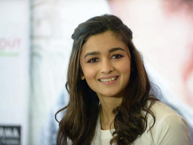 Alia Bhatt smiles during a media interaction in Ahmedabad on October 20, 2015.