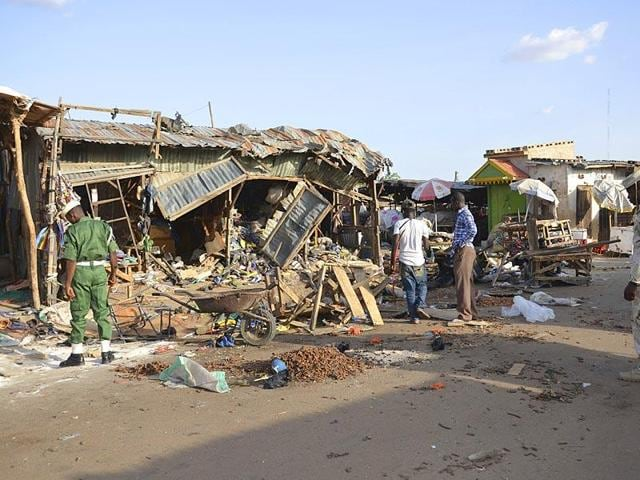 At least 28 people were killed in a suicide bombing near a mosque in Nigeria's capital, the latest in a series of attacks on Maiduguri.