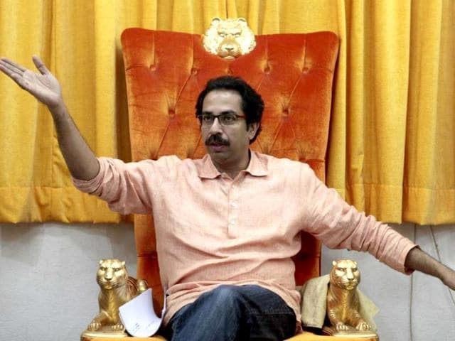 PM Modi and Shiv Sena president Uddhav Thackeray during a rally in Mumbai. The BJP has not responded to Thackeray, despite the Shiv Sena leader's recent inflammatory comments castigating his ally.