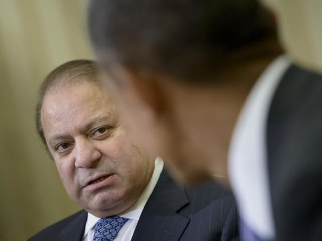 President Barack Obama meets with Pakistani Prime Minister Nawaz Sharif in the Oval Office of the White House in Washington on Thursday.