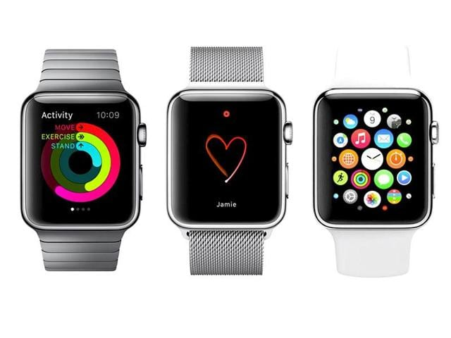The Watch is Apple's first wearable device that not only tracks your fitness (in addition to reminding you to stand up every hour), but also gives you email, text messages, notifications and apps right on your wrist.