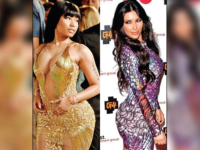 Hips don't lie: In a pop culture that venerates the lush behinds of Nicki Minaj and worships at the shrine of the Kim Kardashian butt, a skinny arse no longer cuts it (Photos: Getty Images & Shutterstock)