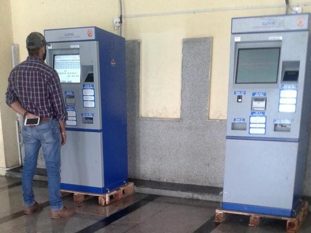 ATVM,Automatic Ticket Vending Machines,Chandigarh railway station