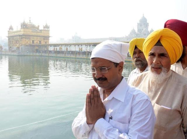 CM,Arvind Kejriwal,Golden Temple
