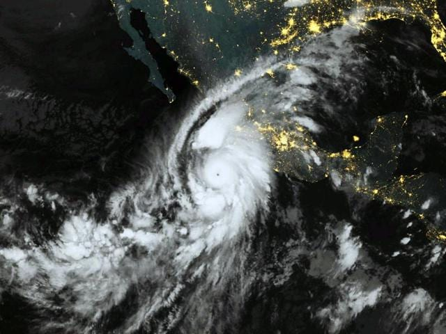This October 23, 2015, 06:00 UTC Eumetsat satellite image shows category 5 Hurricane Patricia, off the Pacific coast of Mexico. Monster Hurricane Patricia roared toward Mexico's Pacific coast on Friday, prompting authorities to evacuate villagers, close ports and urge tourists to cancel trips over fears of a catastrophe.