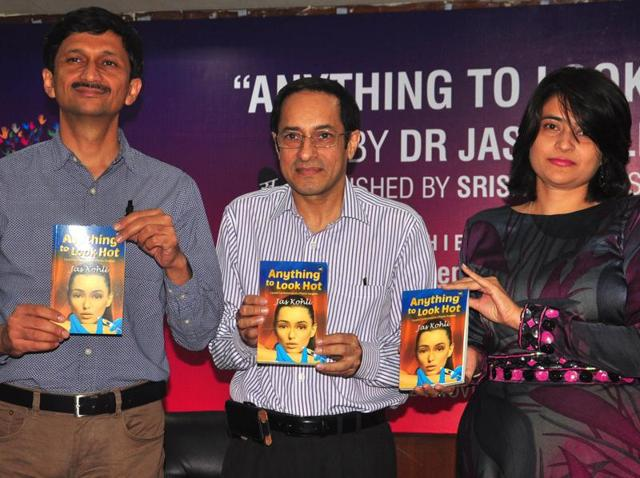 (From left) Panchkula deputy commissioner Vivek Atray, author Dr Jas Kohli and corporate trainer Suditi Jindal during the book release at PHD Chamber of Commerce and Industry, Chandigarh.