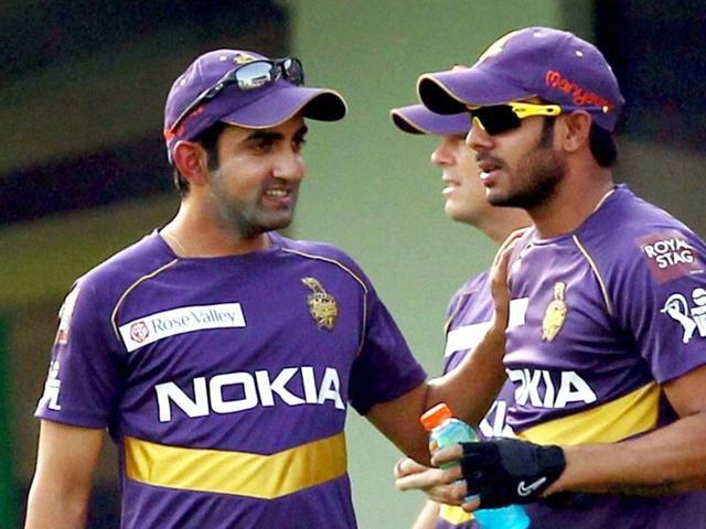 A file photo of Gautam Gambhir and Manoj Tiwary as teammates for IPL side Kolkata Knight Riders.