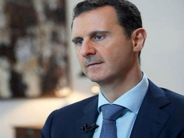 Syria's President Bashar al-Assad speaks during an interview with the Iranian Khabar TV channel in this handout photograph released by Syria's national news agency SANA on October 4, 2015.