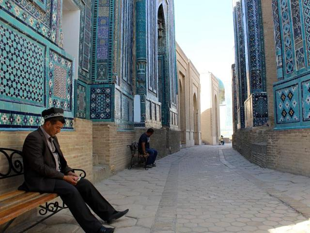 Royal necropolis Shah-i-Zinda (11th-19th Century), Samarkand.(Rama Arya/HT)