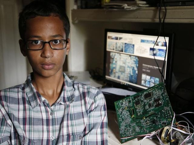 This photo provided by the Irving Police Department shows the homemade clock that Ahmed Mohamed brought to school, in Irving. Police detained the 14-year-old Muslim boy after a teacher at MacArthur High School decided that the homemade clock he brought to class looked like a bomb, according to school and police officials.