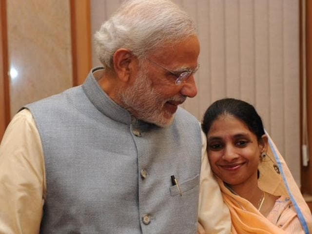 Prime Minister Narendra Modi met Geeta after she returned to India on Monday.
