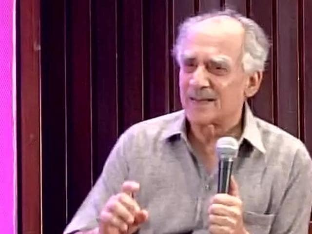 BJP leader Arun Shourie at a book release function on Monday, October 26, 2015.