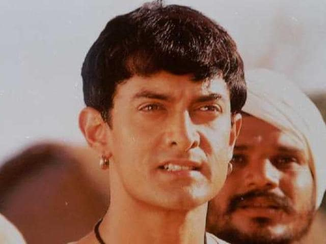 Aamir Khan in a still from Lagaan.