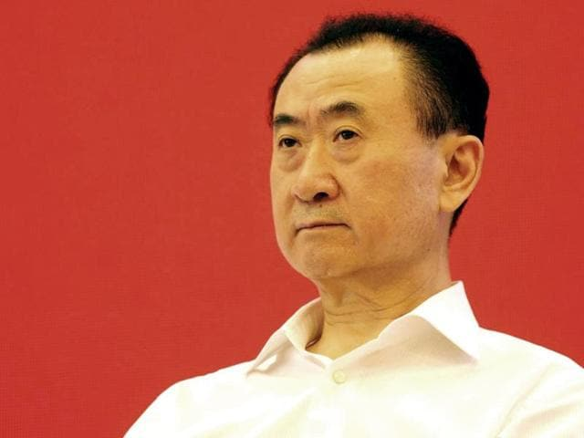 This picture taken on July 16, 2015 shows Wang Jianlin, chairman of property giant Wanda Group, attending the China Brand Forum in Beijing.