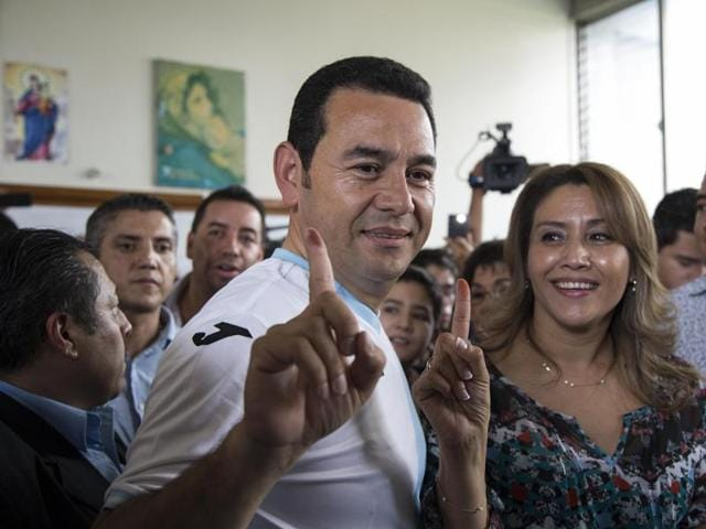 Jimmy Morales, former TV comedian and National Front of Convergence party candidate won the popular vote by a landslide.