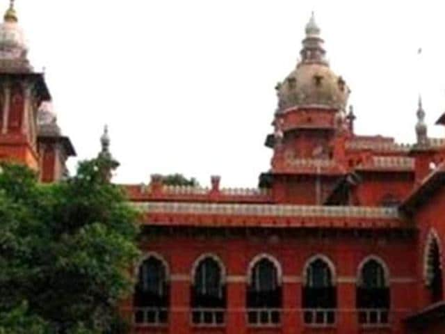 A file photo of Madras high court.  The high court suggested the Central government should consider castration as an additional punishment for those who sexually abuse children. (PTI Photo)