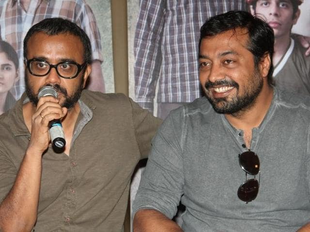 Filmmakers Dibakar Banerjee and Anurag Kashyap during a meet and greet session of film Titli in Mumbai .