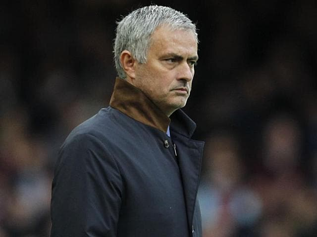 Chelsea's Portuguese manager Jose Mourinho during the EPL match against West Ham United at The Boleyn Ground in Upton Park, London, on October 24, 2015.