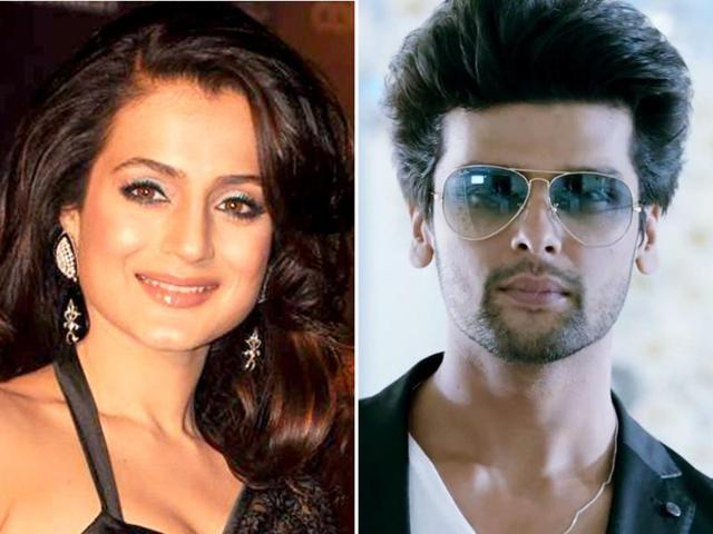 Ameesha and Kushal indulged in a bad fight on Twitter on Monday.