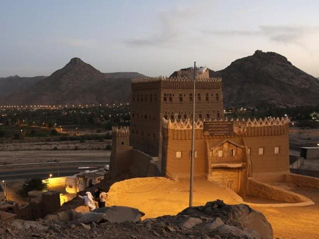 This file photo shows Saadan historic palace in Najran, Saudi Arabia, where a suicide bomb explosion in a mosque in the south of the kingdom, killed at least one person.