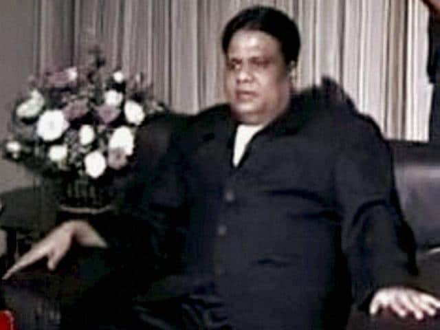 A file photo of gangster Chhota Rajan. He was caught by Indonesian police in Bali on Sunday.
