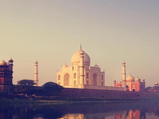 Taj Mahal,Hot Air Balloon,Aerial View
