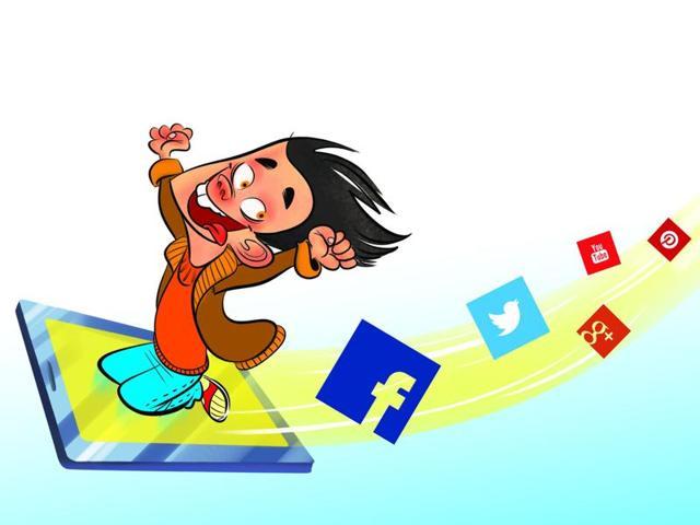 Social media,Survey,Children