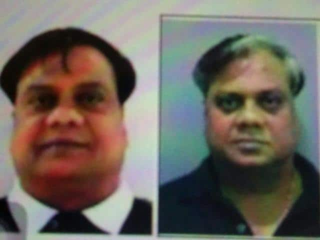 Chhota Rajan (right) with an Indonesian official.