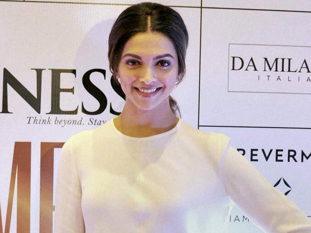 Bollywood actor Deepika Padukone during an event in Mumbai.