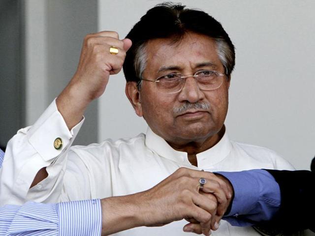A file photo of former Pakistan President Pervez-Musharraf.