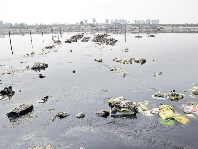 Officials of the two states have indulged in a war of words over the illegal bridge being constructed over the Yamuna by the sand mining mafia.
