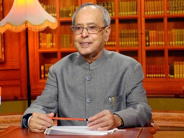 A file photo of President Pranab Mukherjee. A group of scientists and academicians have written to Mukherjee urging him to take action against rising incidents of intolerance and communal hatred in the country.