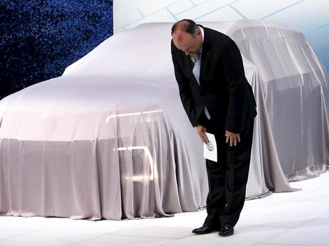 Sven Stein, representative director of Volkswagen Group, Japan, apologised at the start of a presentation at the 44th Tokyo Motor Show in Tokyo, on WednesdayOctober 28, 2015. REUTERS/Yuya Shino TPX IMAGES OF THE DAY