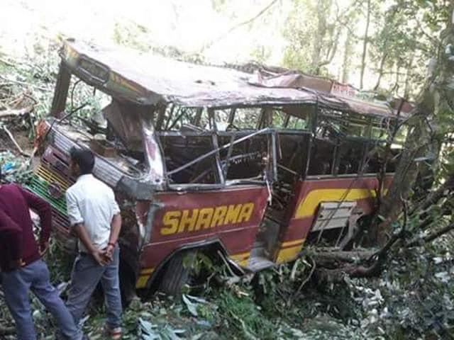 Private bus rolled down  to deep gorge in Sirmaur district of Himachal Pradesh