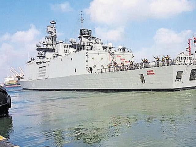 Indian Navy's INSSahyadri.