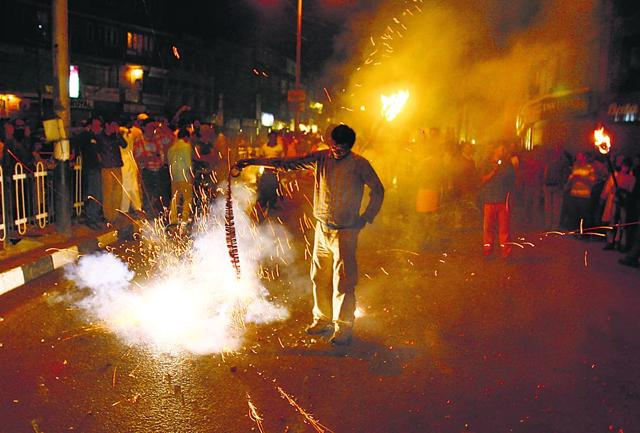 Around 25 firecrackers were tested at an open ground. Noise levels were recorded five metres from point of bursting.