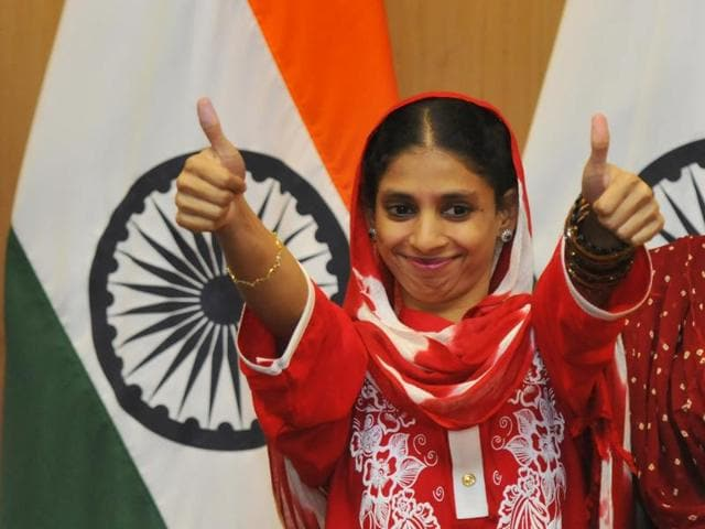 Geeta returns to India