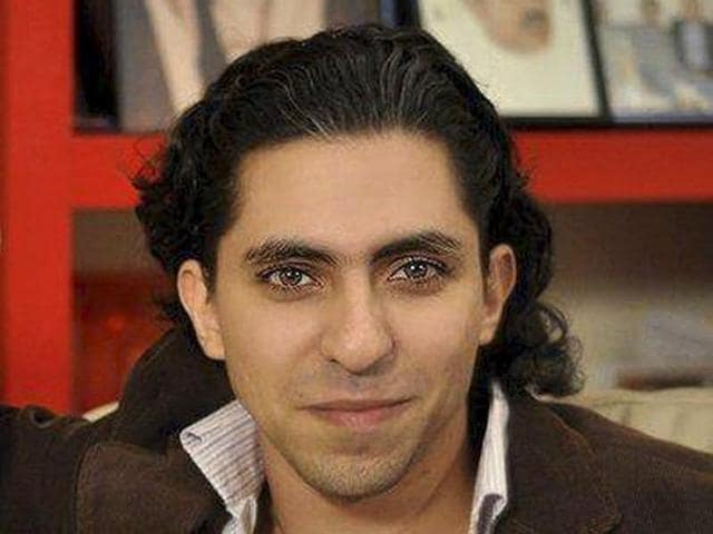 Saudi blogger Raif Badawi is seen in an undated portrait provided by Amnesty International.